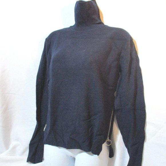 CELINE Wool Ribbed TURTLENECK BRET Sweater Top